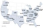 U.S. COMs map