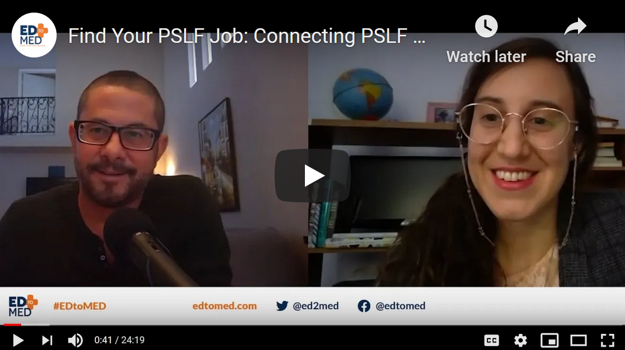 ED to MED Interviews Jason DiLorenzo, founder of PSLFjobs